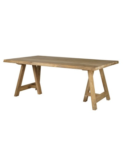 TABLE NAGOYA EN BOIS DE TECK RECYCLE NATUREL