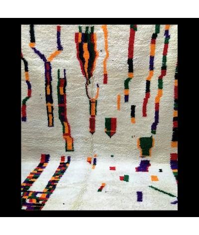 Tapis MONDRIAN , Beni Ouarain  Graphisme cubique et couleurs Pop, un petit côté L'Oréal