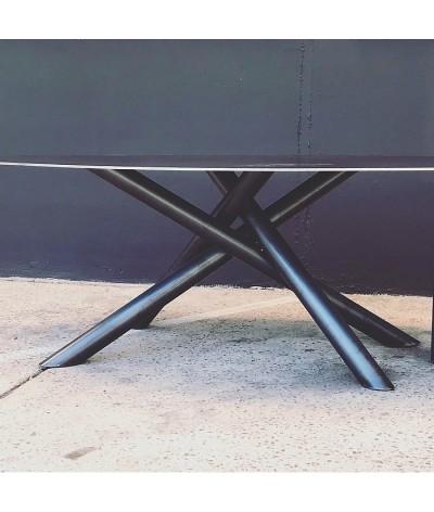TABLE FIDJI EN ACIER FABRICATION TERRE ET METAL