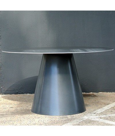 TABLE LOMBOK EN METAL TERRE ET METAL