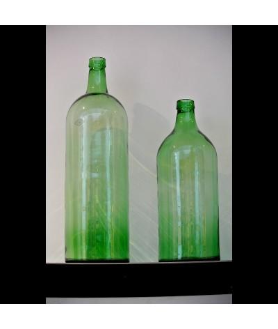 Bouteilles Pépé en verre recyclé vert