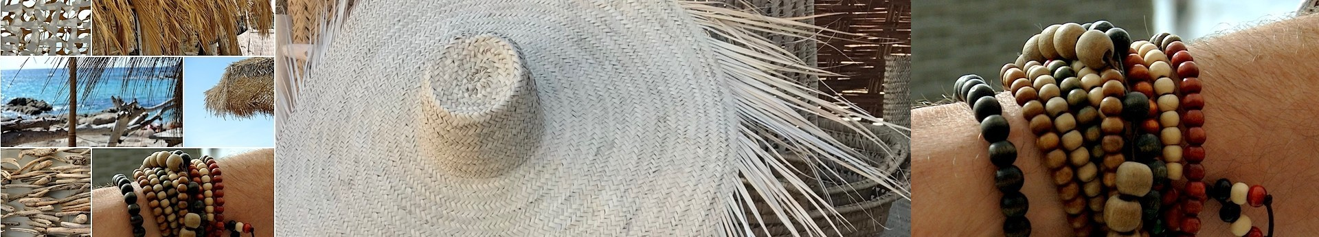 La mode By Terre et Métal des bijoux, des paniers, des écharpes, des chapeaux