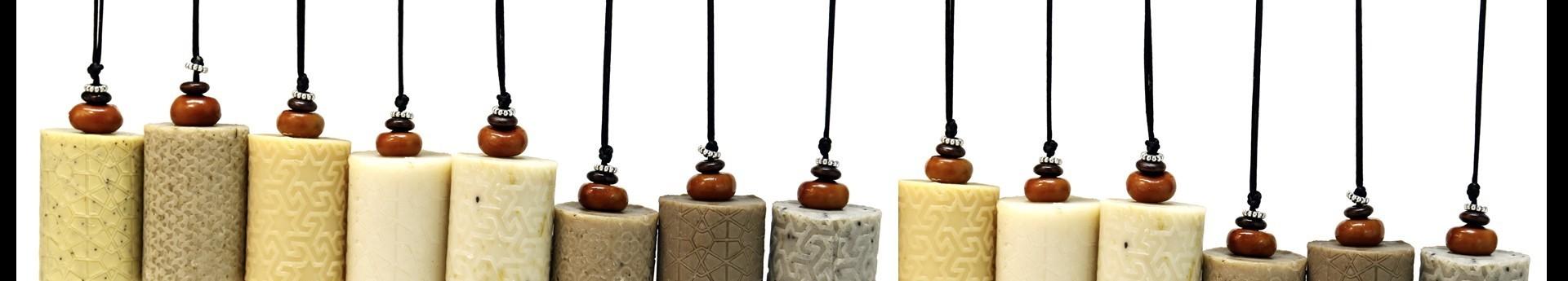 Une gamme de savons naturels et de produits cosmétiques bios.